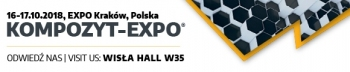 KOMPOZYT-EXPO 2018 KRAKOW 9th International Trade Fair for Composite Materials, Technologies and Products